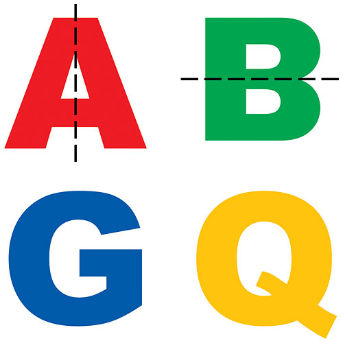 Which of these letters are symmetrical?