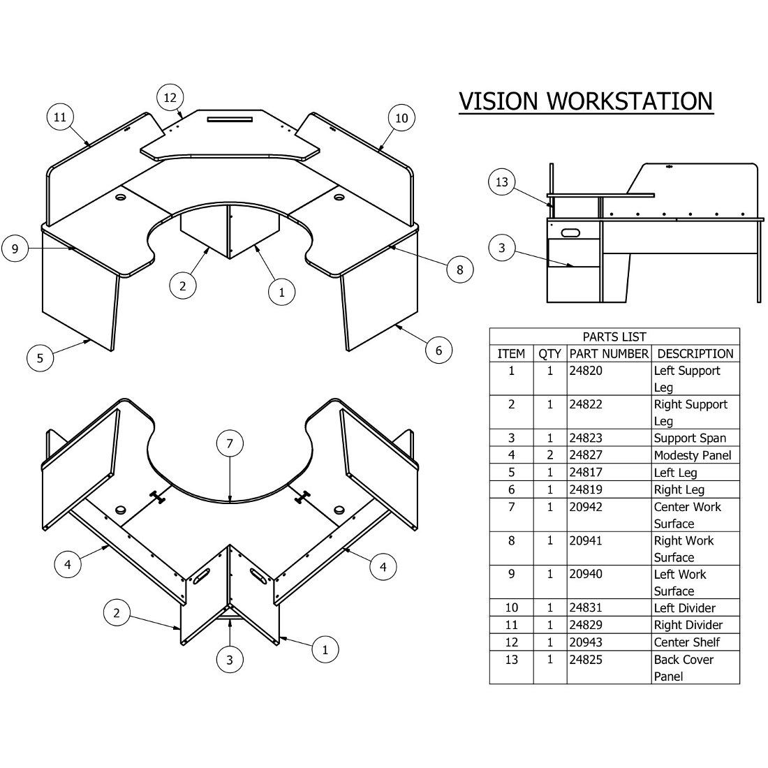 ... Items 1 And 2 For S Vision Furniture). There Is About An Inch Of  Adjustment Built Into Each Leg Leveler.