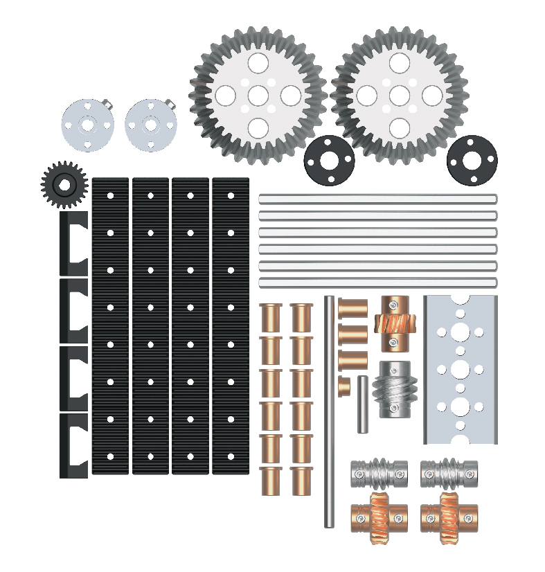 Pitsco Education - TETRIX Robotics - TETRIX PRIME - Shop Parts Packs