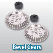 Bevel gears transmit torque at right angles