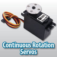 continuous rotation servos for robots
