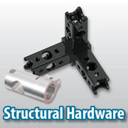 Connecting hardware for structural elements