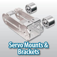 Servo mounts & brackets for robots