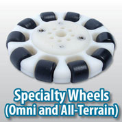 Specialy Wheels make your robot versatile
