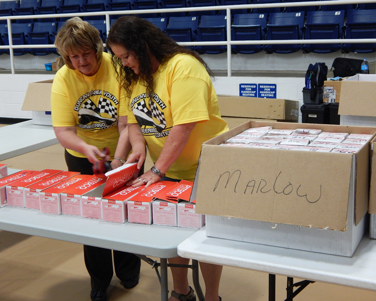 Volunteers make the event run smoothly
