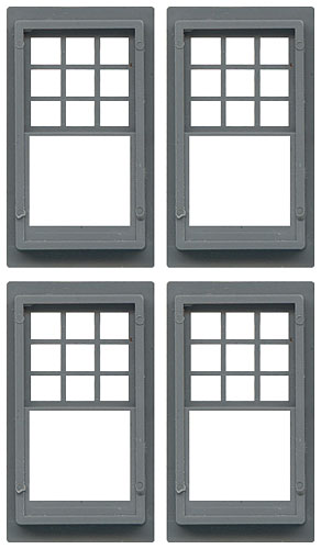 Double-Hung Queen Anne Windows