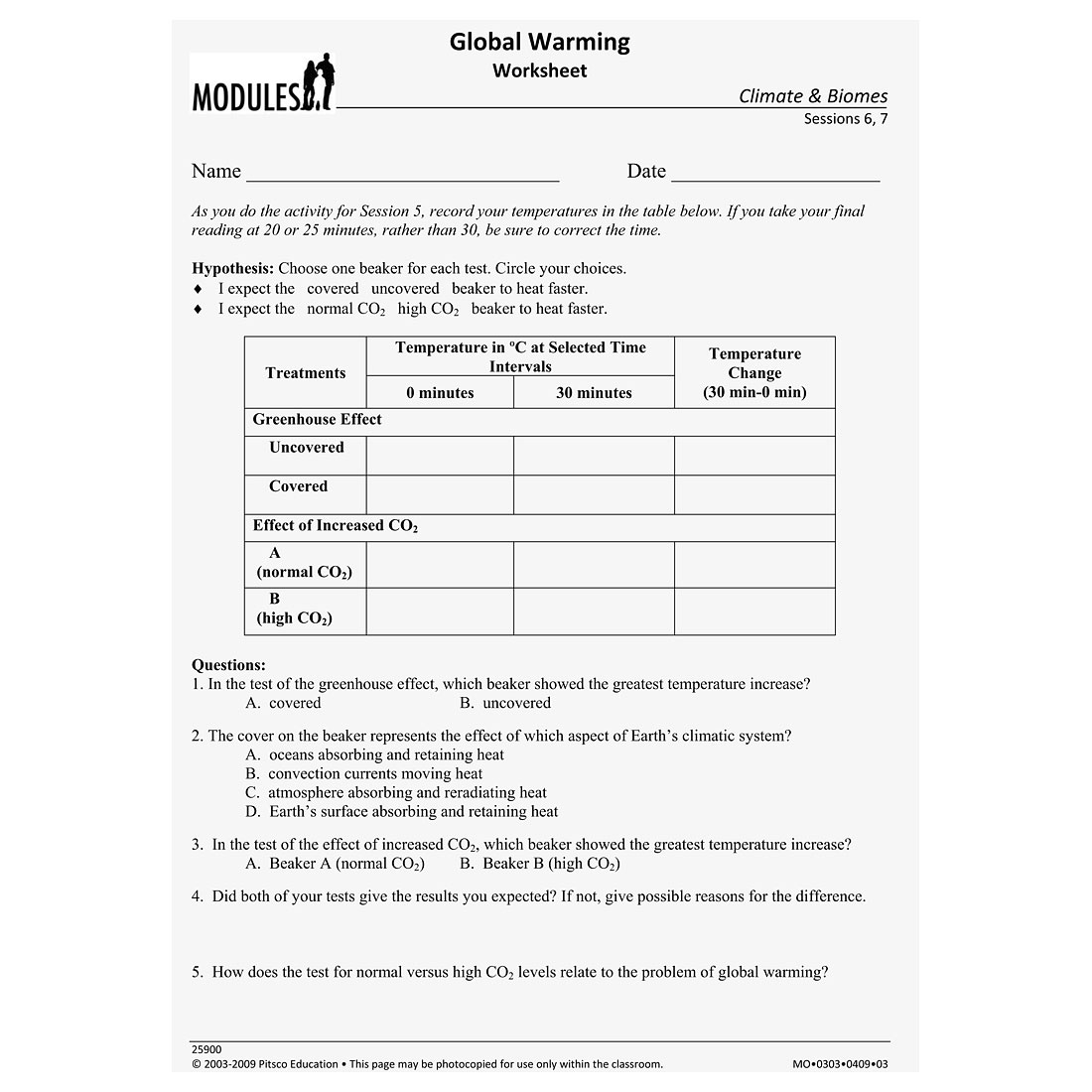 greenhouse effect worksheet w25900. Black Bedroom Furniture Sets. Home Design Ideas