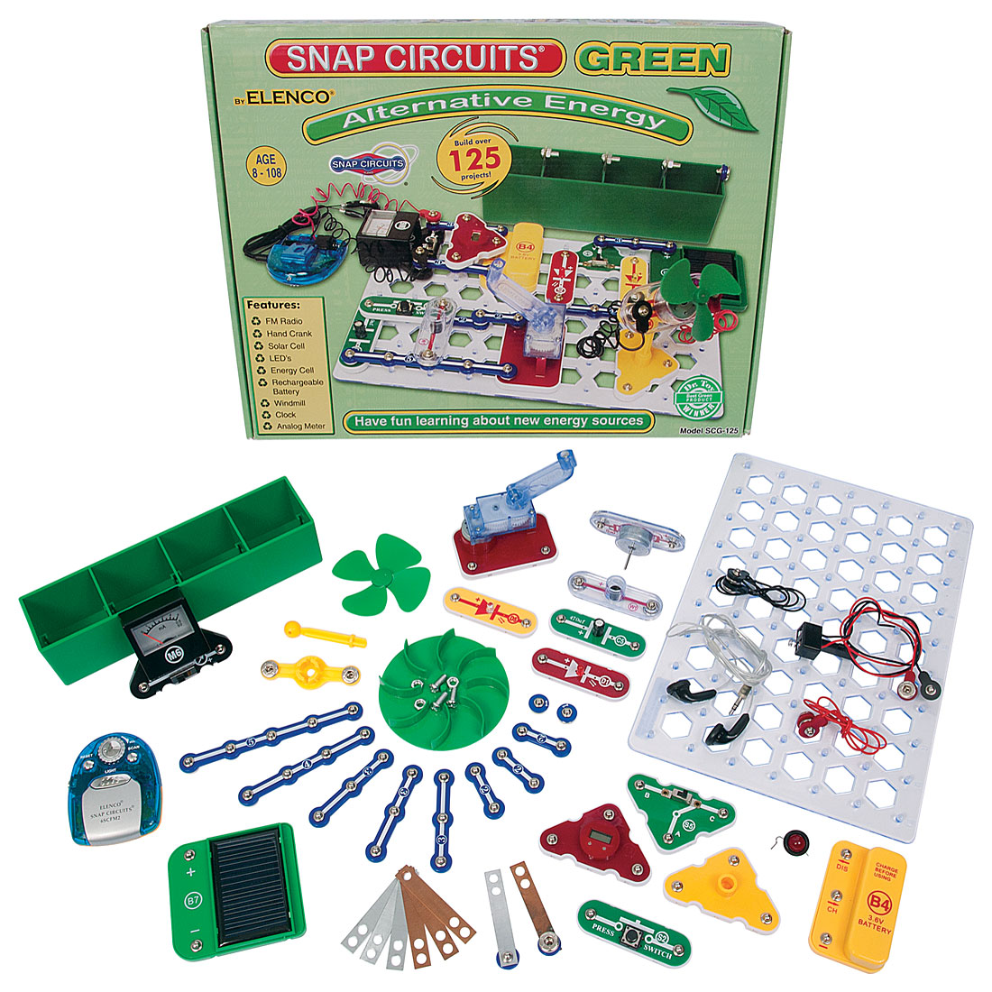 Home > physical science > electronics > kits > snap circuits green ...