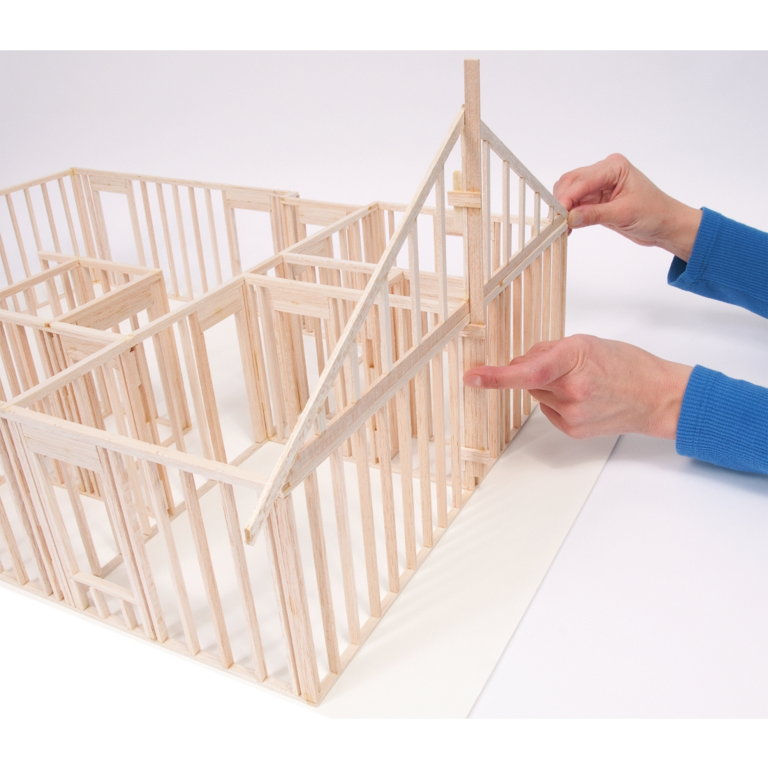 Plans to build Balsa Wood House Kits PDF Plans