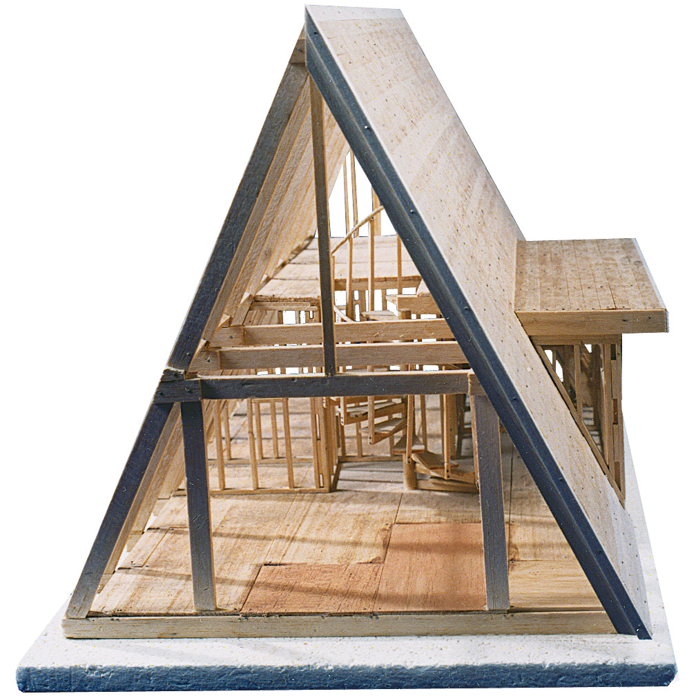Roof construction a frame roof construction for How to build a timber frame house