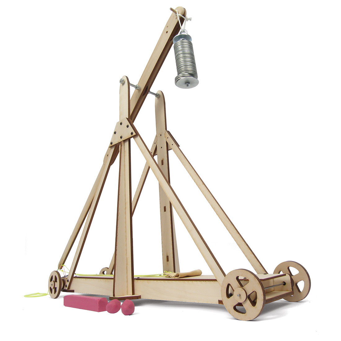Large trebuchet demonstrator w35230 for Catapult design plans for physics