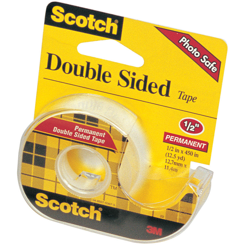 scotch double sided transparent tape. Black Bedroom Furniture Sets. Home Design Ideas