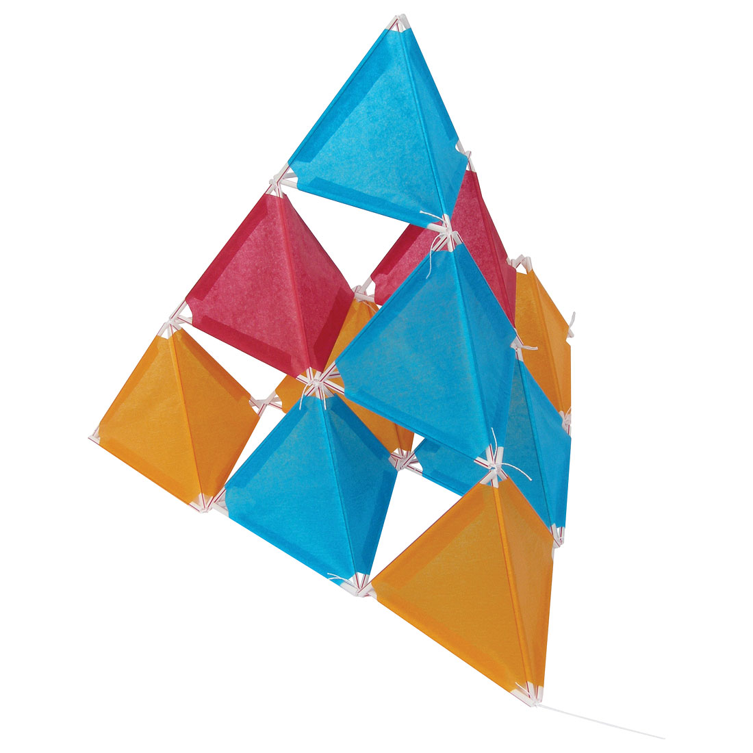 10 cell kazoon kite for Tetrahedron kite template