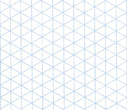 "1/4"" Isometric Sketching Sheets (8-1/2"" x 11"", 100 sheets)"