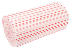 Red and White Striped Plastic Straws