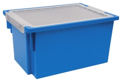 Extra Deep Blue Bin with Lid