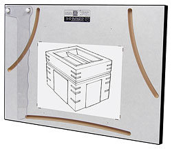 "3-D Perspective Drawing Board for 8-1/2"" x 11"" Paper"