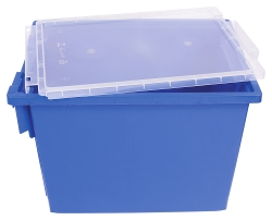 Jumbo Blue Bin with Lid