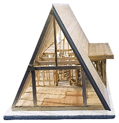 A frame cabin kit 101 w51769 for House framing 101