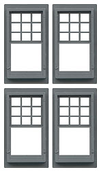 Double Queen Anne Windows (W80170)