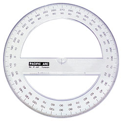 "4"" Full-Circle Protractor"