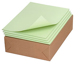 "Hearlihy Drawing Paper (80 lb, green, 9"" x 12"", Ream)"
