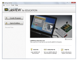 LabVIEW<sup>&trade;</sup> for Education Software
