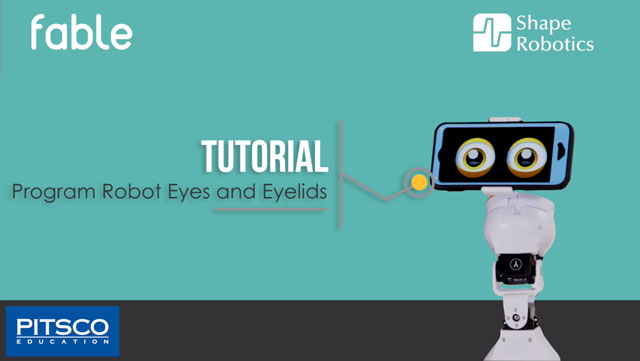 FABLE Tutorial: Program Robot Eyes and Eyelids
