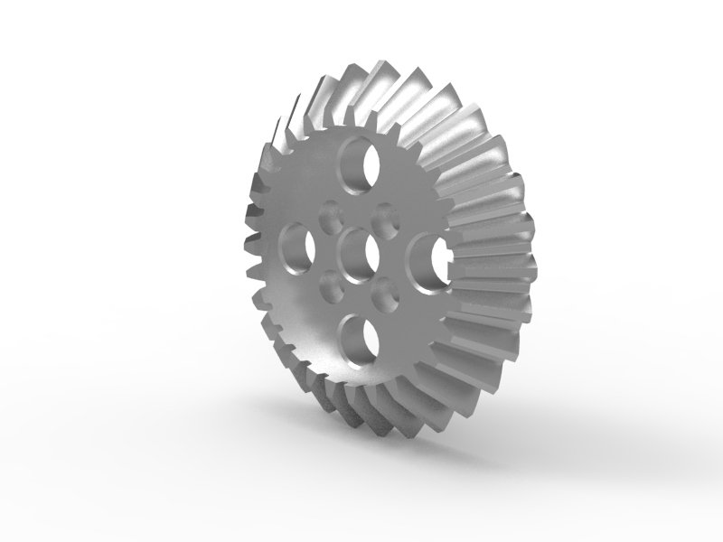 Bevel Gear Animation : Tetrix max bevel gear acetal bearing w