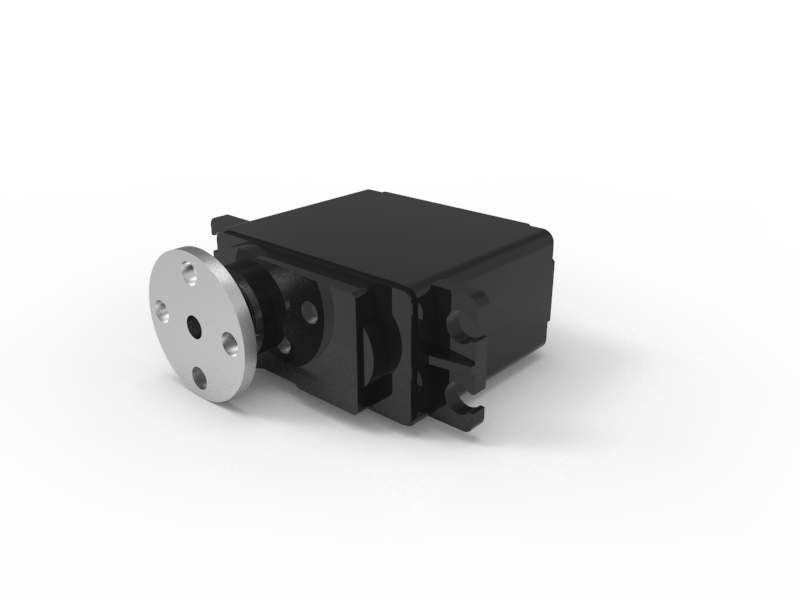180-Degree Standard-Scale HS-485HB Servo Motor 3D Animation