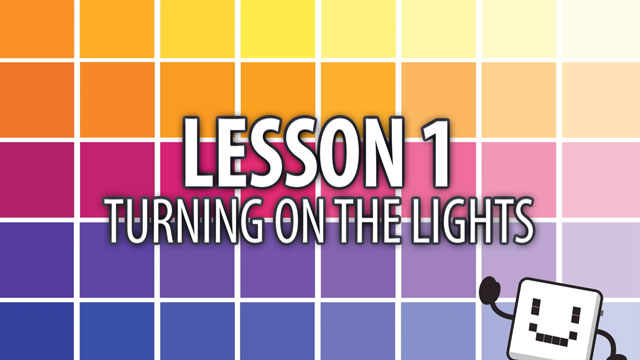 Code Cube Lesson 1: Turning on the Lights