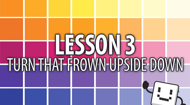 Code Cube Lesson 3: Turn that Frown Upside Down