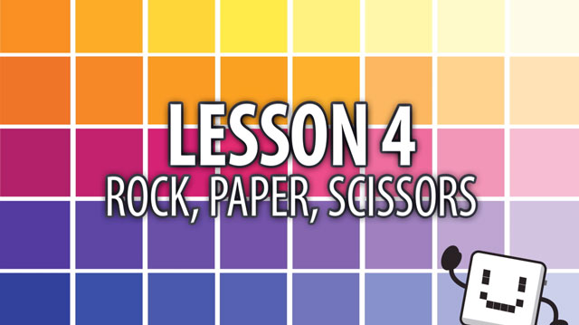 Code Cube Lesson 4: Rock, Paper, Scissors