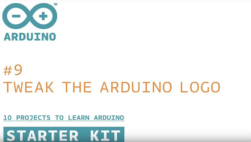 Arduino Starter Kit: Tweak the Arduino Logo