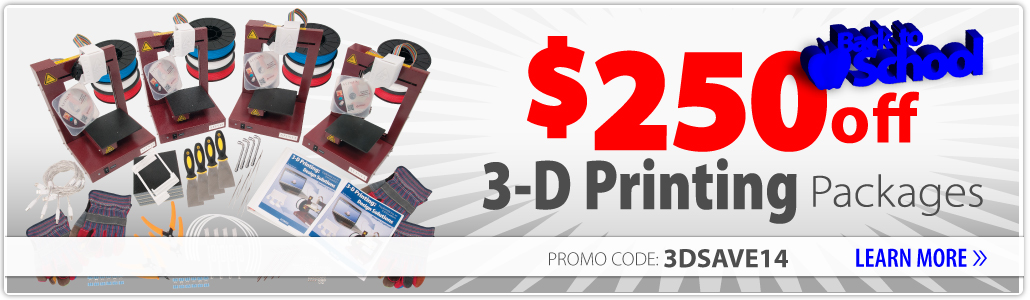 3-D Printing Packages Promo