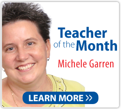 Teacher of the Month Michele Garren