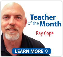 Teacher of the Month Ray Cope